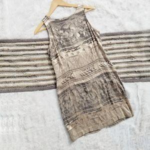 Vintage Bohemian Print Dress